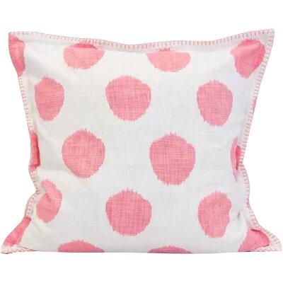 Dot 100% Cotton Throw Pillow Color: Azalea