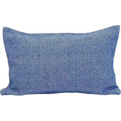 Blake 100% Cotton Lumbar Pillow Color: Indigo