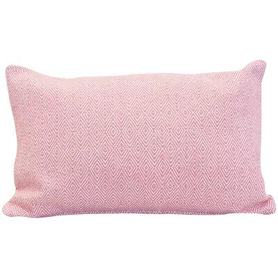 Blake 100% Cotton Lumbar Pillow Color: Azalea