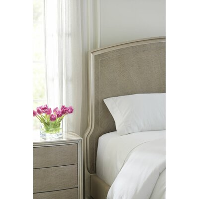 Maple Upholstered Panel Bed Color: Silver, Size: King