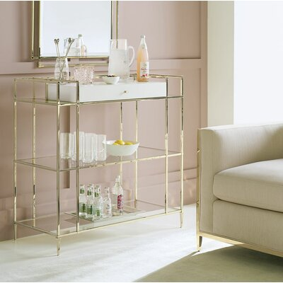 Petite Glass Bar Cabinet