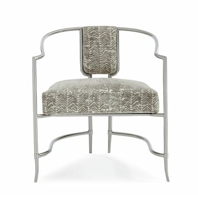 Brushed Chrome Armchair