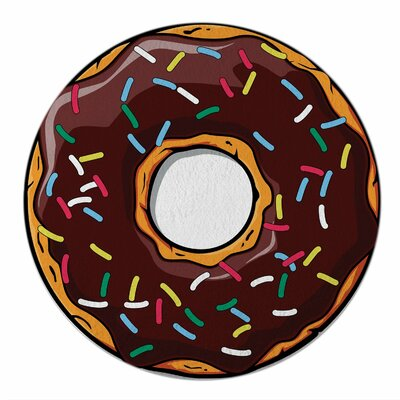 Foodie Chocolate Donut Beach Towel Color: Chocolate