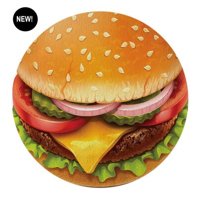 Foodie Cheese Burger Beach Towel