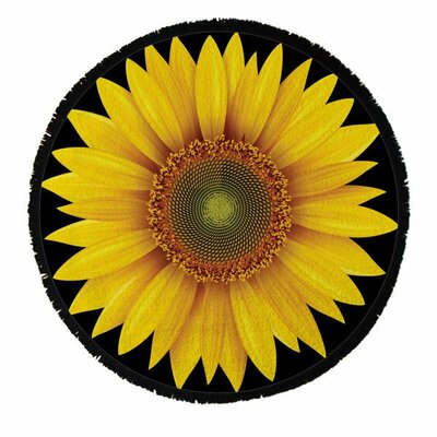 Boho Sunflower Beach Towel