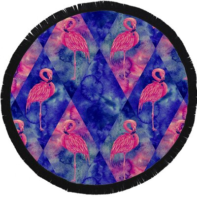 Gonzalez Flamingo Beach Towel