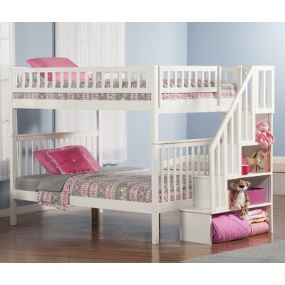 Shyann Full over Full Bunk Bed Color: White