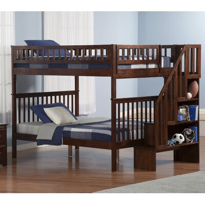 Shyann Full over Full Bunk Bed Finish: Antique Walnut
