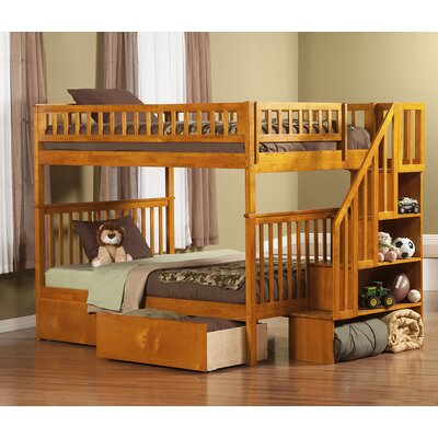 Shyann Bunk Bed with Storage Finish: Caramel Latte