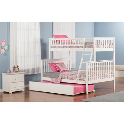 Shyann Twin over Full Bunk Bed with Trundle Finish: White