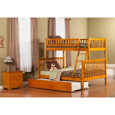 Shyann Twin over Full Bunk Bed with Trundle Finish: Caramel Latte