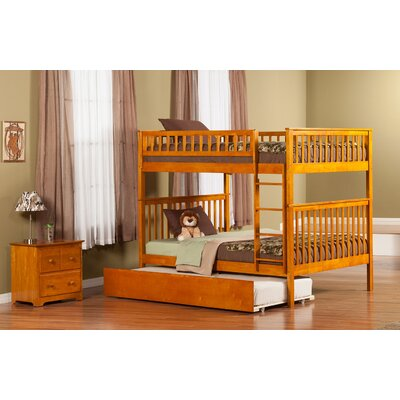 Shyann Full over Full Bunk Bed with Trundle Finish: Caramel Latte