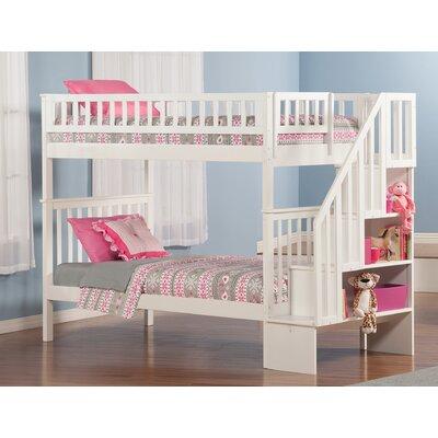 Shyann Twin Bunk Bed Finish: White