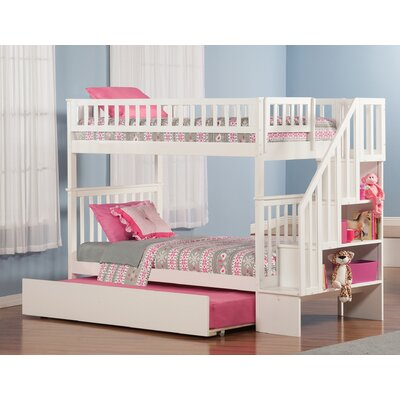Shyann Bunk Bed with Trundle Finish: White