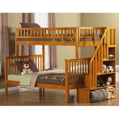 Shyann Twin over Full Bunk Bed Finish: Caramel Latte