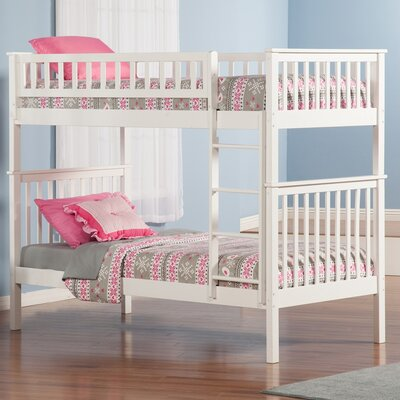 Shyann Twin over Twin Bunk Bed Color: White