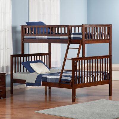 Shyann Twin over Full Bunk Bed Finish: Antique Walnut