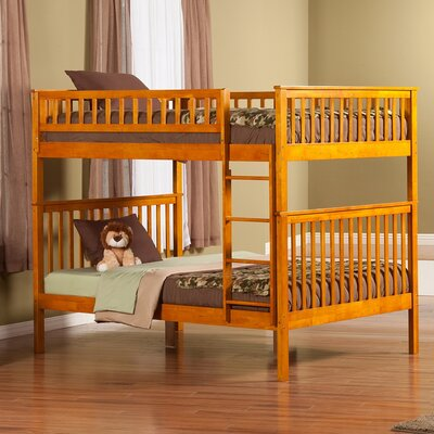 Shyann Full over Full Bunk Bed Finish: Caramel Latte