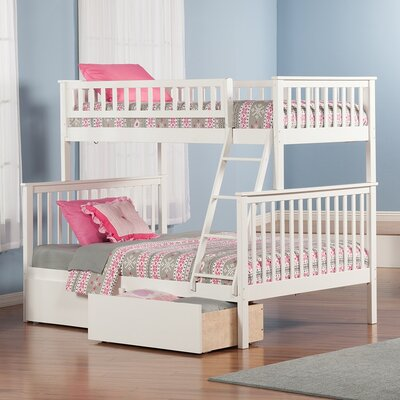 Shyann Twin over Full Bunk Bed with Storage Finish: White
