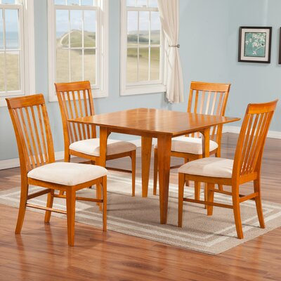 Poulos 5 Piece Dining Set Color: Caramel Latte