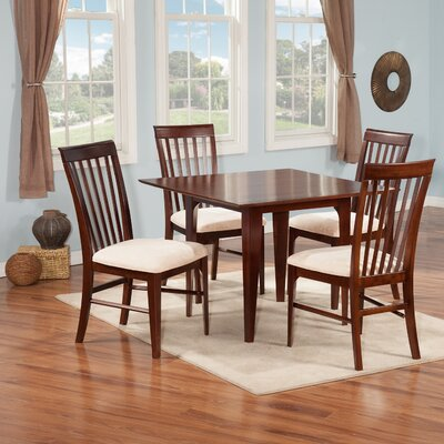 Poulos 5 Piece Dining Set Color: Antique Walnut