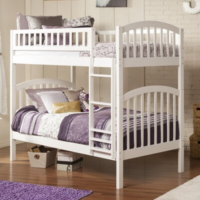 Jackie Twin over Twin Bunk Bed Color: White