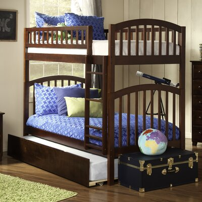 Jackie Twin over Twin Bunk Bed Color: Antique Walnut