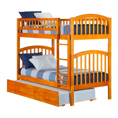 Jackie Twin Over Twin Bunk Bed Color: Caramel Latte