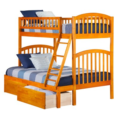 Jackie Twin over Full Bunk Bed Color: Caramel Latte
