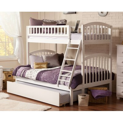 Jackie Twin Over Full Bunk Bed Color: White
