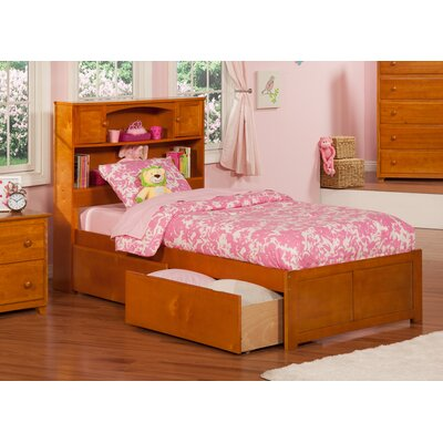 Rottman Extra Long Twin Platform Bed with Storage Color: Caramel Latte