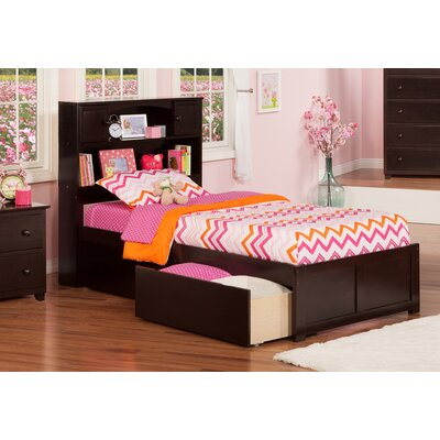Rottman Extra Long Twin Platform Bed with Storage Color: Espresso