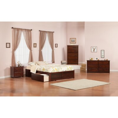 Mackenzie Storage Platform Bed Size: Full, Finish: Antique Walnut