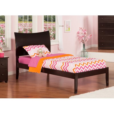 Soho Extra Long Twin Sleigh Bed with Open Foot Finish: Espresso