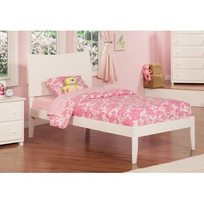 Soho Extra Long Twin Sleigh Bed with Open Foot Finish: White