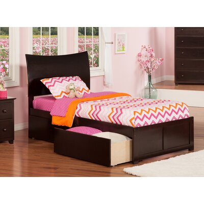 Soho Extra Long Twin Sleigh Bed with Storage Finish: Espresso