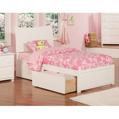 Soho Extra Long Twin Sleigh Mates & Captains Bed with Storage Finish: White