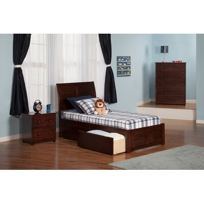 Deandre Storage Platform Bed Color: White, Size: Twin