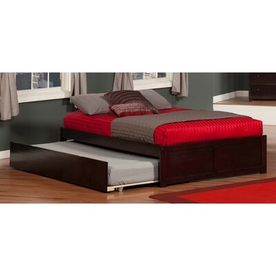 Greyson Platform Bed with Trundle Finish: Espresso, Size: Twin