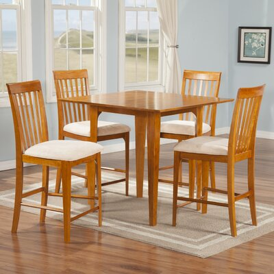Montreal 5 Piece Counter Height Pub Table Set Finish: Caramel Latte