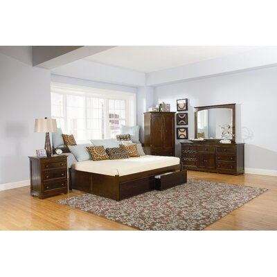 Atlantic Concord Storage Platform Bed - Size: Queen, Finish: Antique Walnut at Sears.com