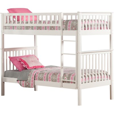 Shyann Twin Bunk Bed Finish: White