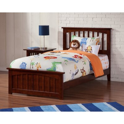 Rhonda Panel Bed Size: Queen, Color: Walnut