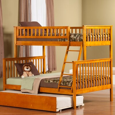 Shyann Bunk Bed with Trundle Color: Caramel Latte