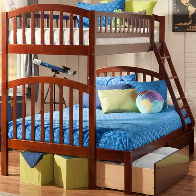Jackie Twin over Full Bunk Bed Color: Antique Walnut