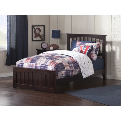 Rhonda Panel Bed Size: Twin, Color: Espresso