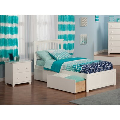 Pauline Platform 2 Piece Bedroom Set Color: White, Bed Size: Twin