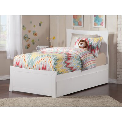 Ahmed Storage Panel Bed Color: White, Size: Full