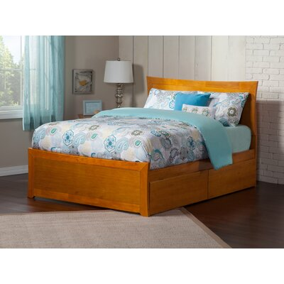 Ahmed Storage Platform Bed Color: Caramel Latte, Size: Queen
