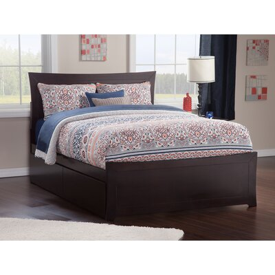 Ahmed Storage Platform Bed Color: Espresso, Size: Queen